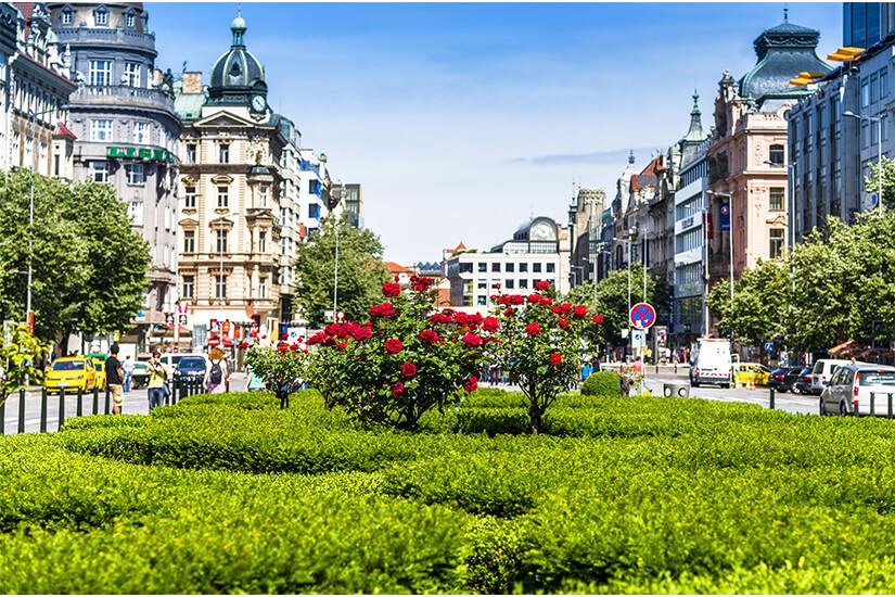 Am Wenzelsplatz kann man gut shoppen