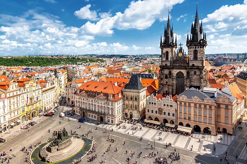 Marktplatz in der Altstadt von Prag