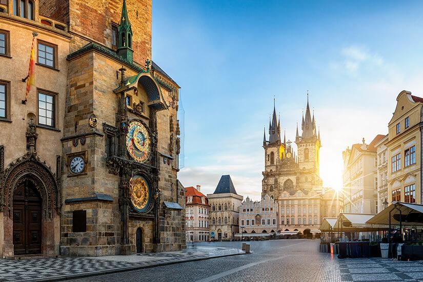 Astronomische Uhr am Rathaus von Prag