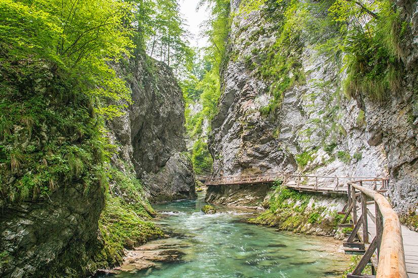 Vintgar-Klamm in den Juelischen Alpen
