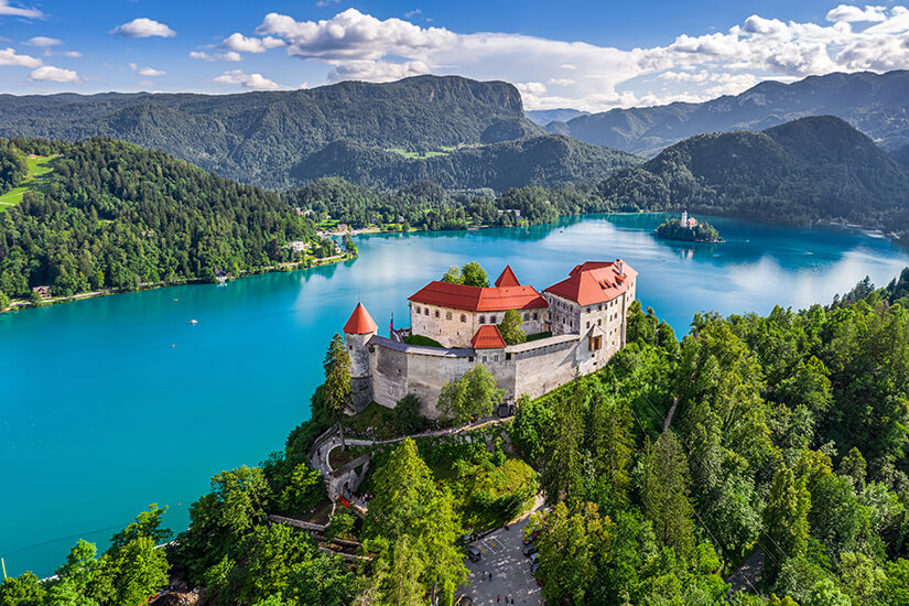 Schloss und See in Bled