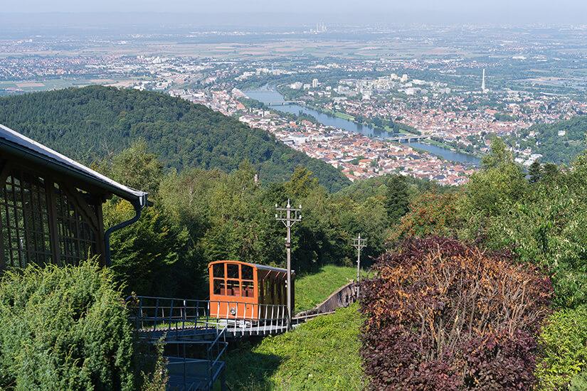Aussicht vom Koenigstuhl bei Heidelberg