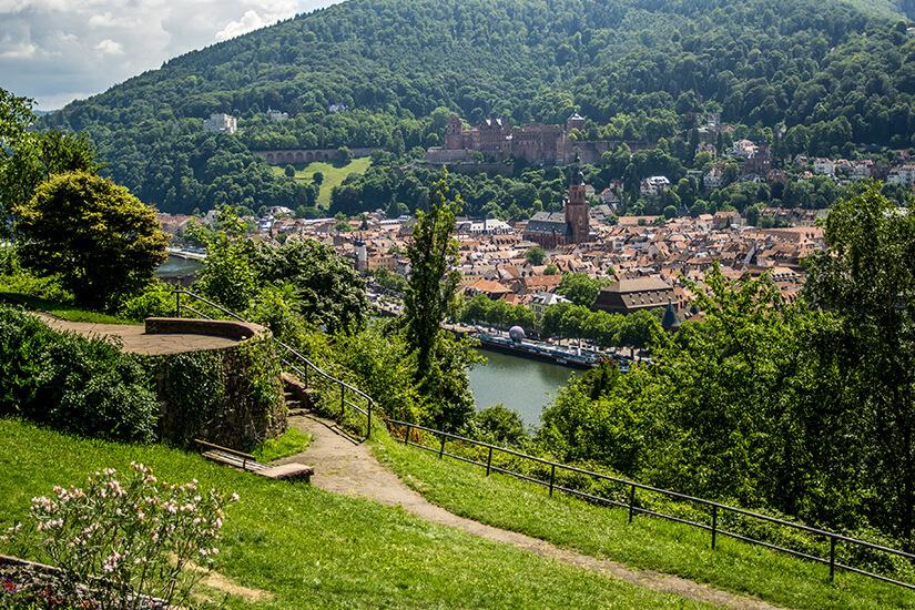 Unterwegs auf dem Philosophenweg bei Heidelberg