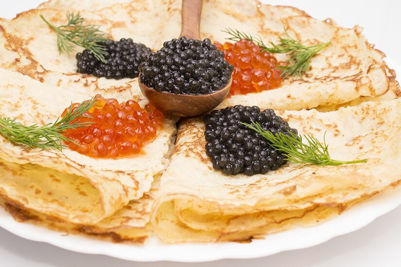 Bliny Blini mit Kaviar
