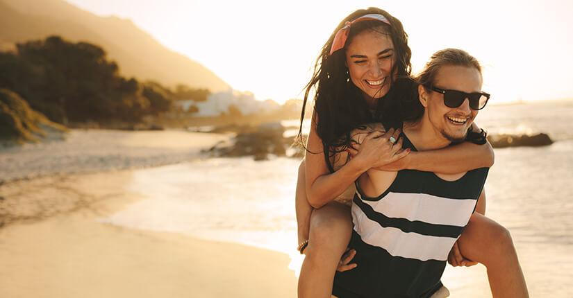 Urlaubsfreuden am Strand
