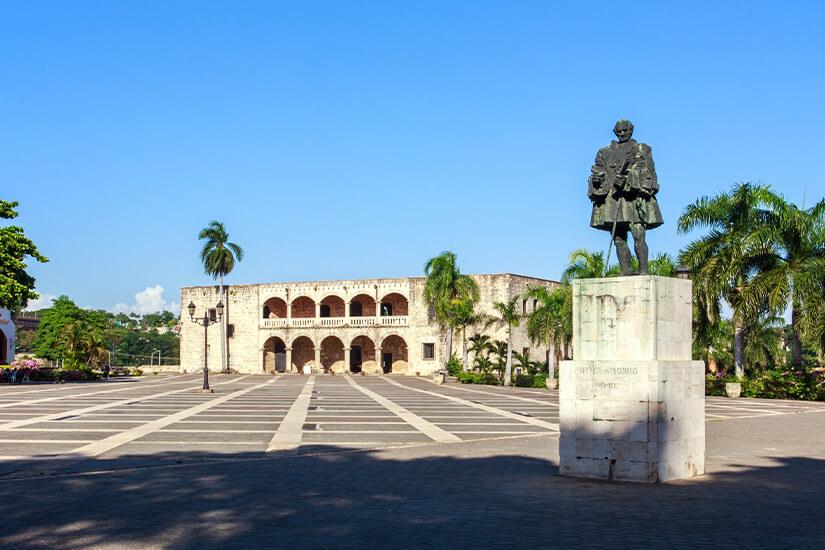 Statue von Christoph Columbus in Santo Domingo