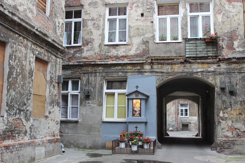 Hinterhof im Stadtteil Praga