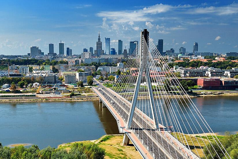 Warschau und die Weichsel