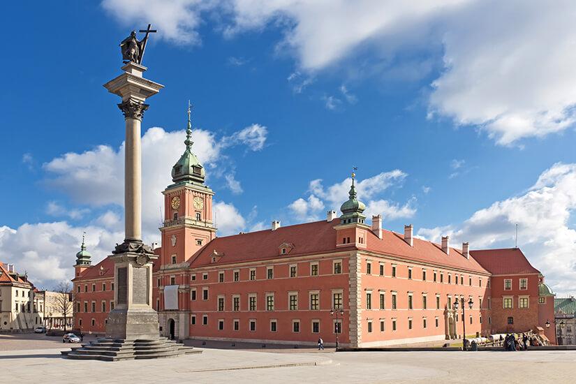Das imposante Warschauer Koenigsschloss