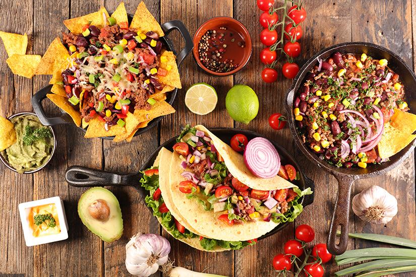 Bunte Vielfalt Mexikanisches Essen