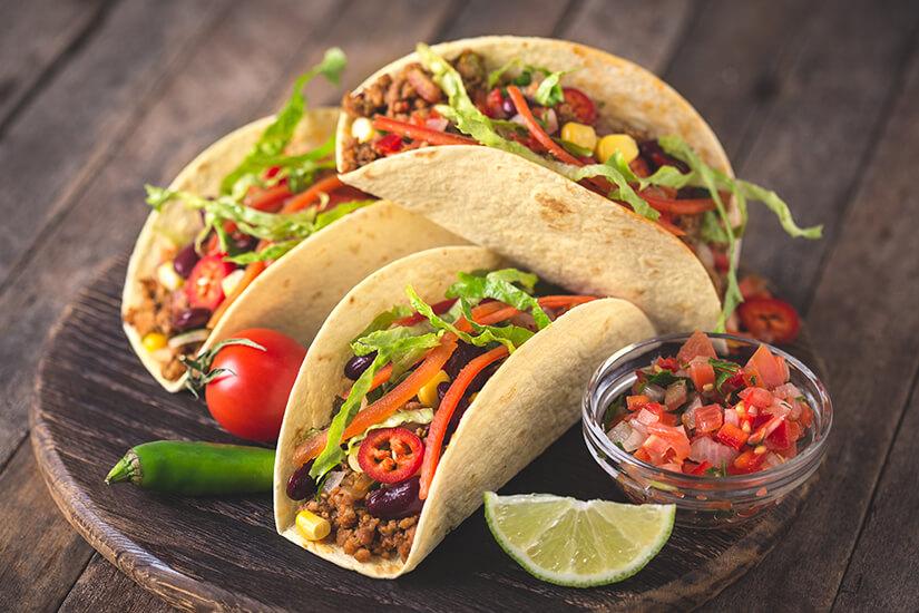 Tacos mit Fleischfuellung