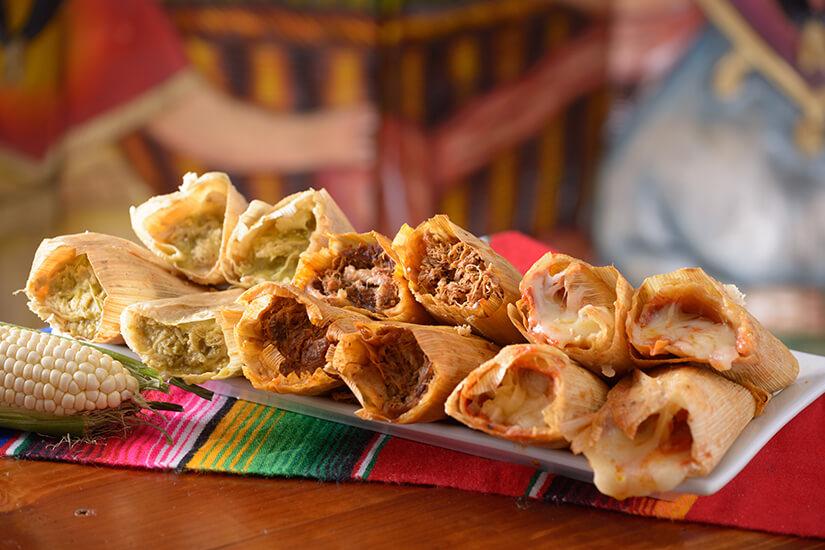 Tamales aus dem Maisblatt