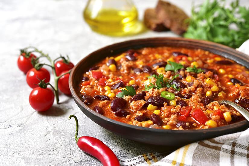 Typisch mexikanisches Chili con carne