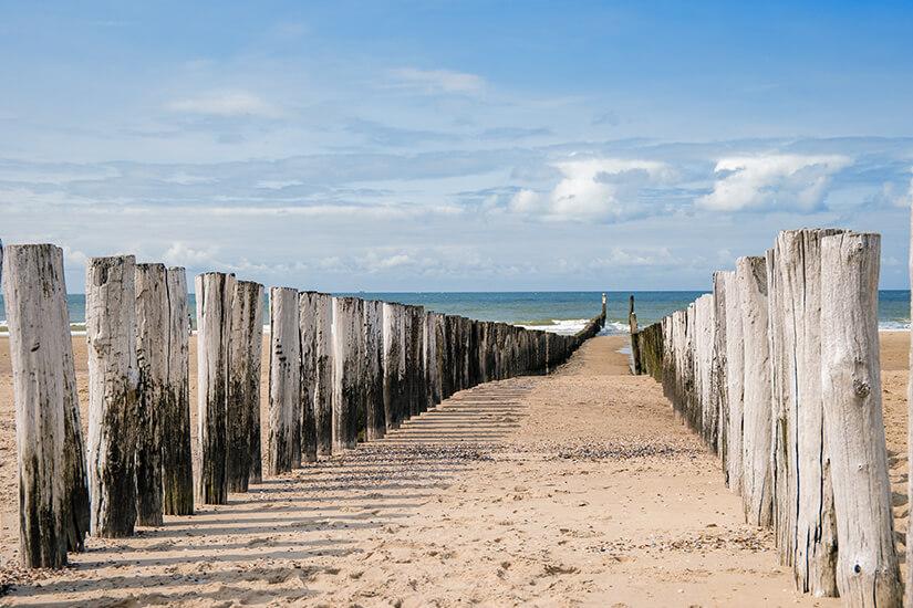Strand von Domburg in den Niederlanden