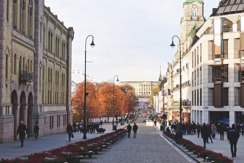 Unterwegs in der Altstadt von Oslo