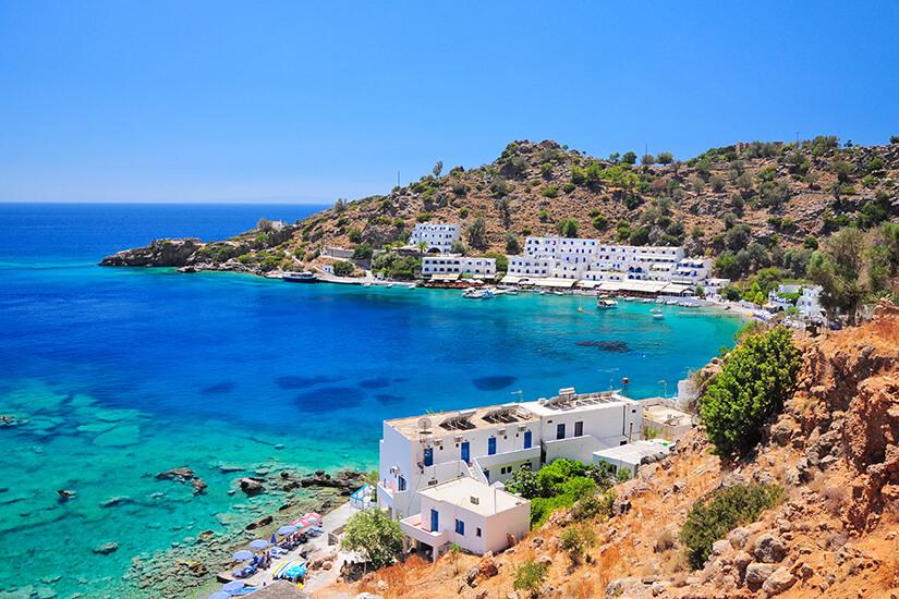 Bucht bei Loutro auf Kreta
