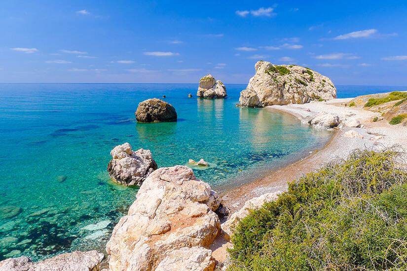 Felsen der Aphrodite in Zypern