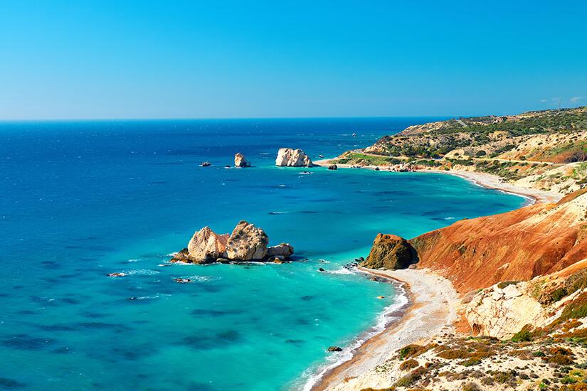 Die romantische Kueste von Zypern