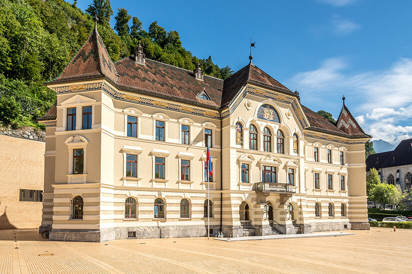 Parlament von Liechtenstein in Vaduz
