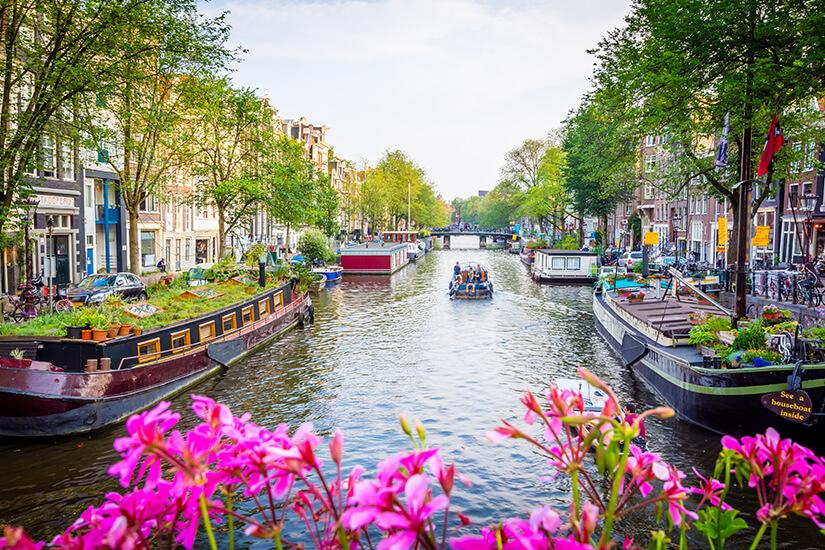 Unterwegs auf den Grachten von Amsterdam