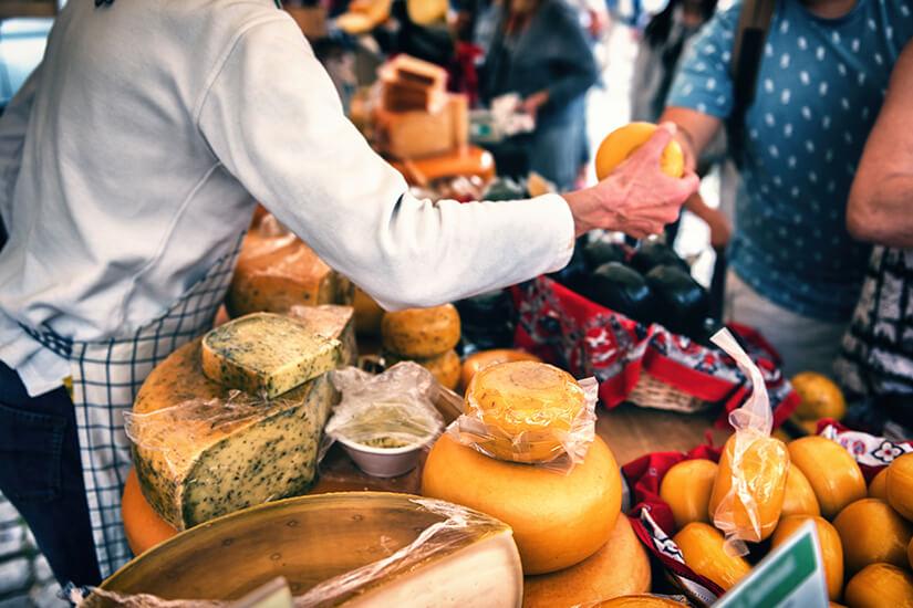 Kaese vom Amsterdamer Wochenmarkt