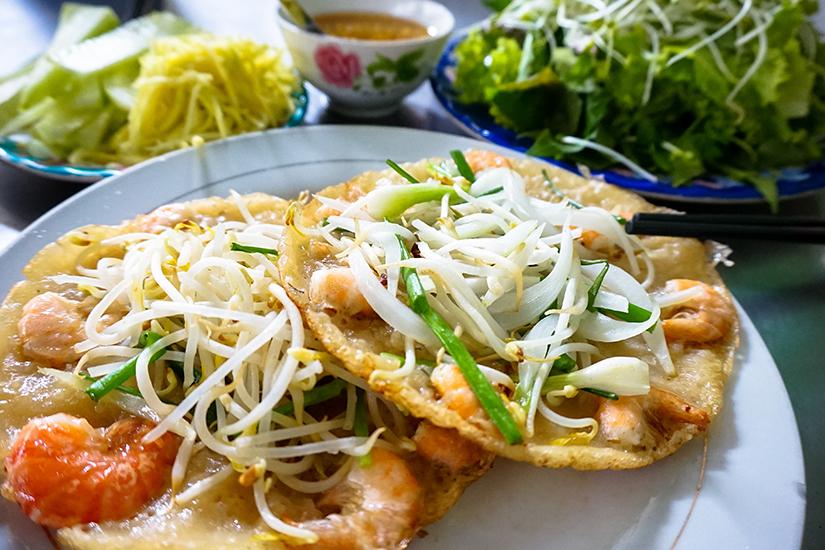Banh Xeo mit Shrimps