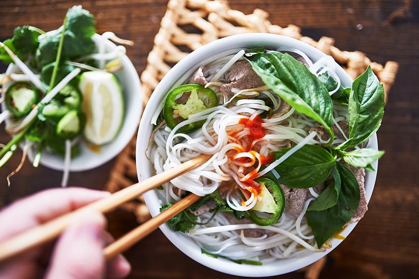 Pho ist ein bekanntes vietnamesisches Essen