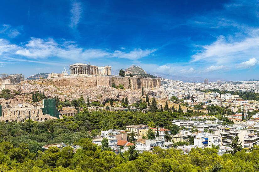 Blick auf Athen und die Akropolis