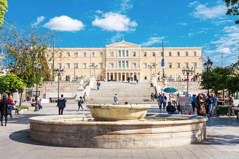 Syntagma-Platz und Parlamentsgebaeude