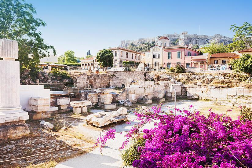 Antiker Platz in Plaka, Athen