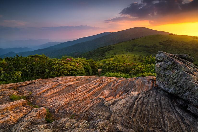 Sonnenuntergang am Appalachian Trail