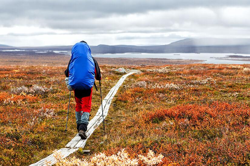 Fernwanderer auf dem Kungsleden in Schweden