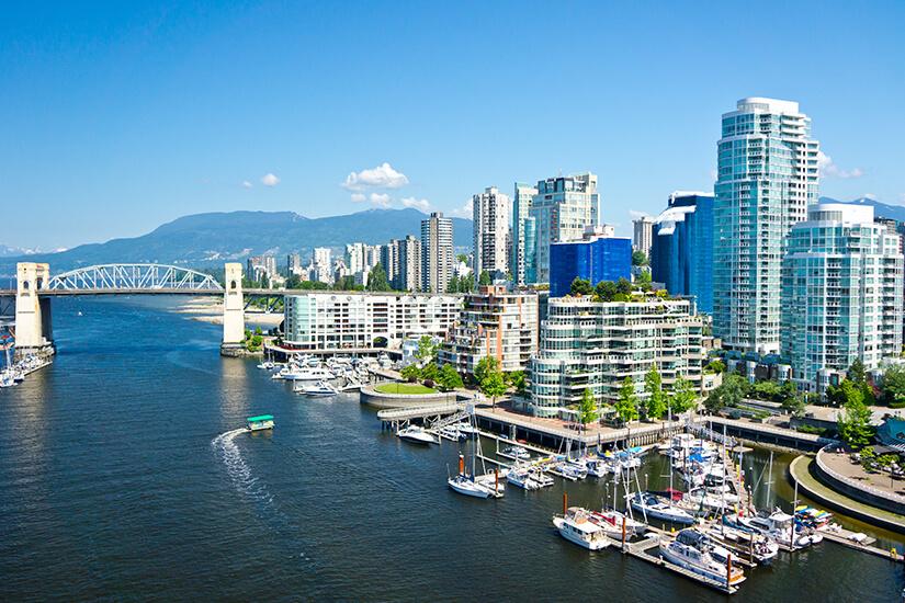 Vancouver reizvolle Ansicht vom Wasser aus