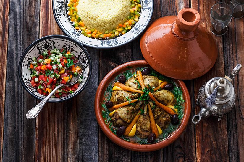 Couscous Haehnchen aus der Tajine