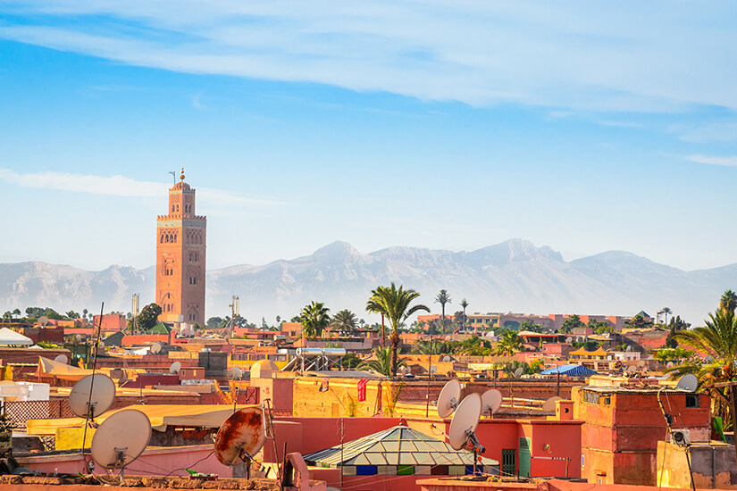 Blick auf die Medina von Marrakesch