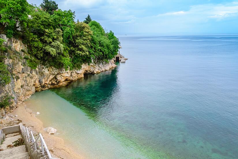 Strand Sablicevo in Rijeka