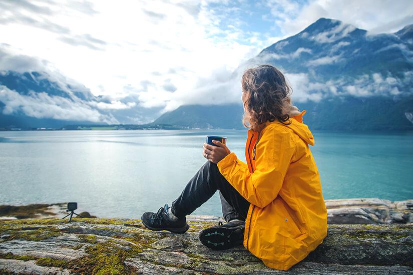 Pause beim Wandern in Norwegen