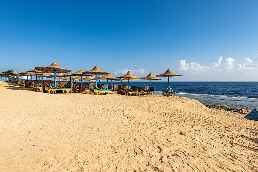 Traumhafter Sandstrand in Marsa Alam
