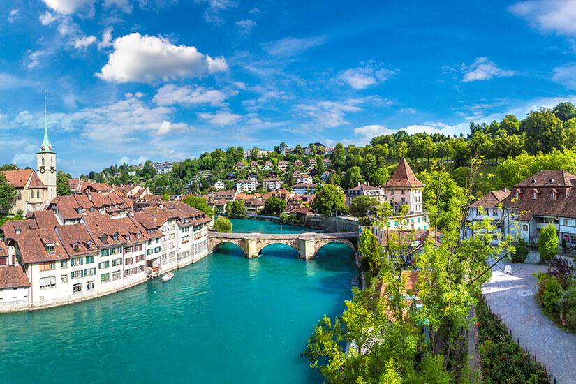 Bern und der Fluss Aare