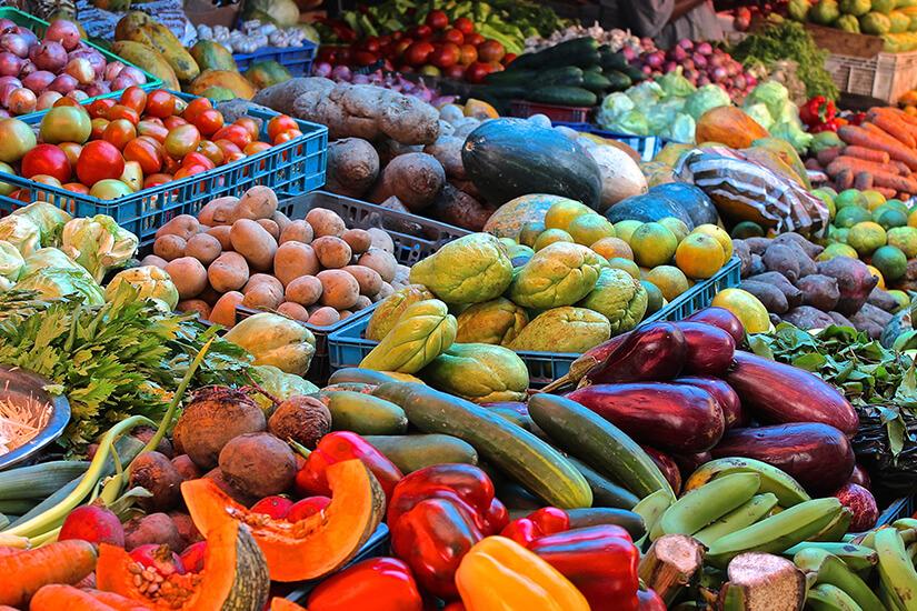 Frisches Gemuese auf dem Markt
