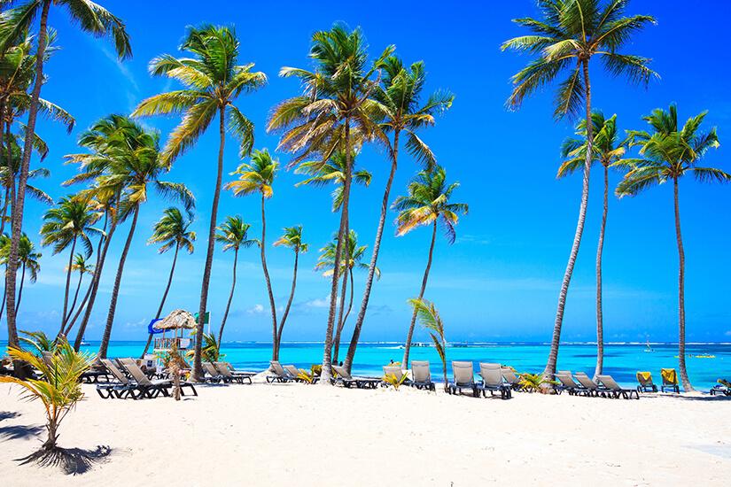 Hotelstrand in Punta Cana