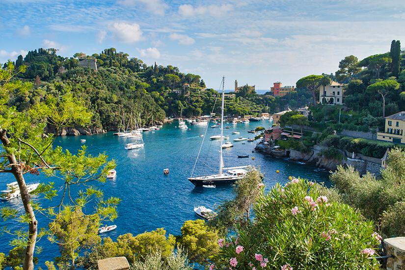 Hafen von Portofino in Ligurien