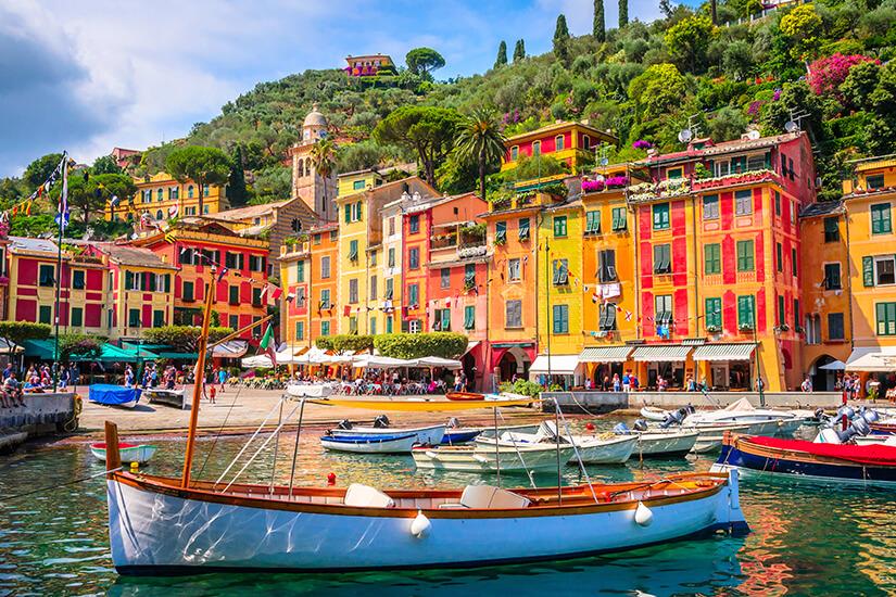 Bunte Haeuser in Portofino