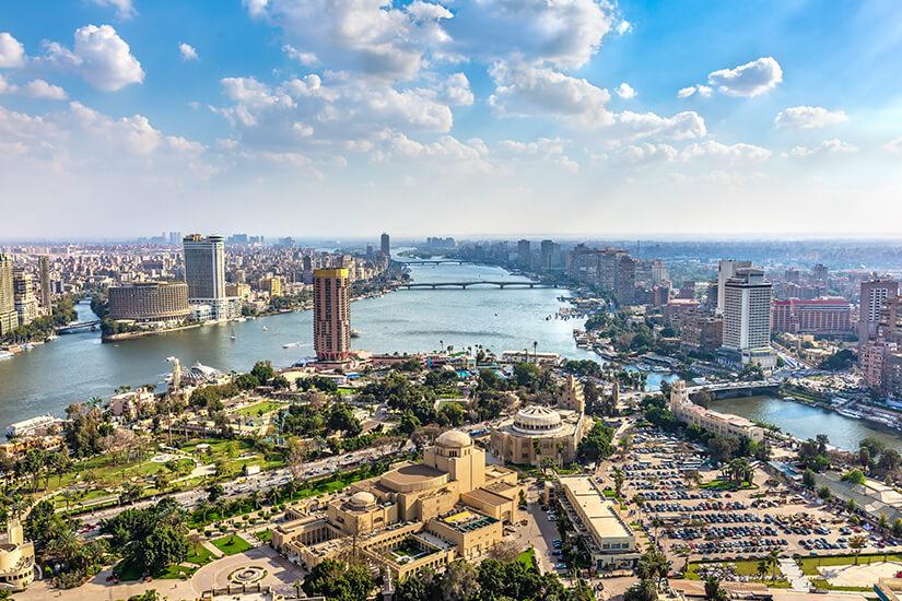 Imposantes Stadtbild von Kairo
