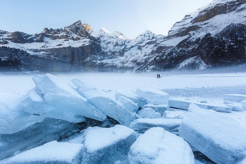 Dicke Eisplatten Oeschinensee