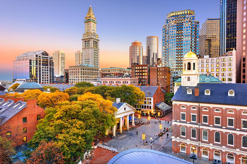 Downtown Boston in der Abendsonne