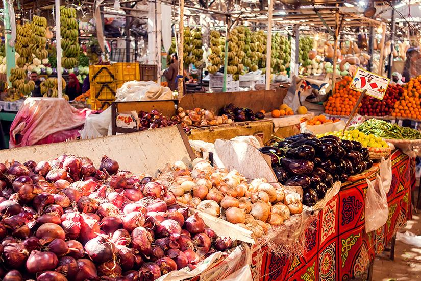 Gemuese auf dem Markt in Hurghada