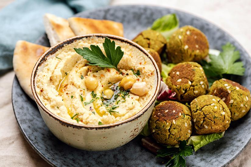 Falafel und Hummus