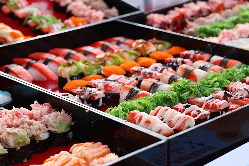 Street Food Sushi in Tokio