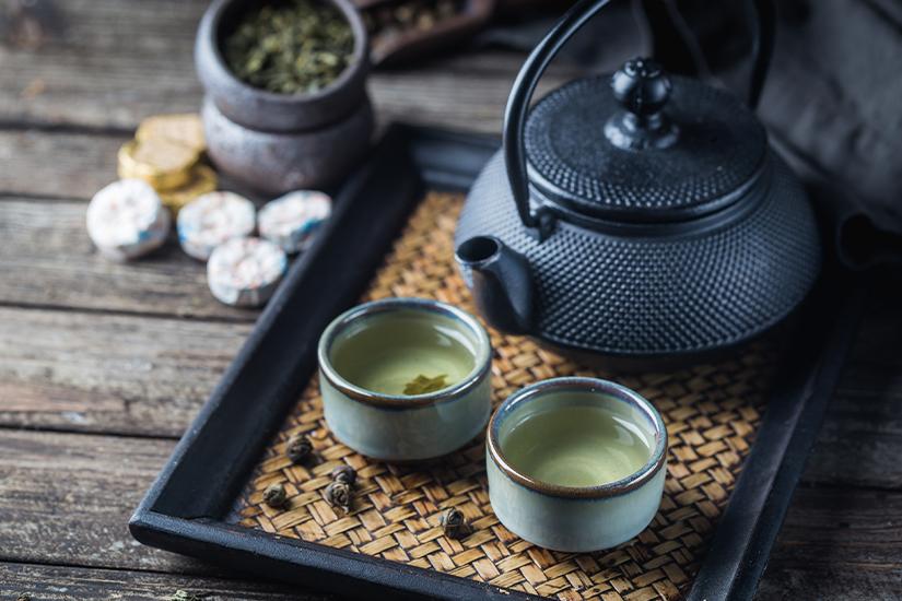 Gruener Tee aus Japan